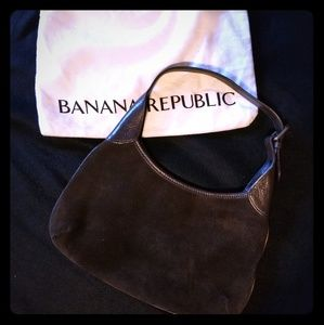 Vintage Banana Republic Suede Handbag